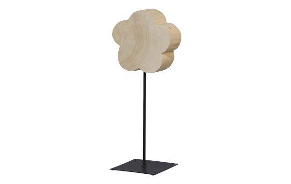 Wooden blossom on base